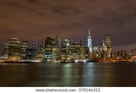 New York City skyline, US - stock photo