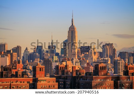 New York City Skyline USA - stock photo