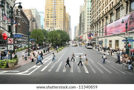 New york city - 34th street, Manhattan - stock photo