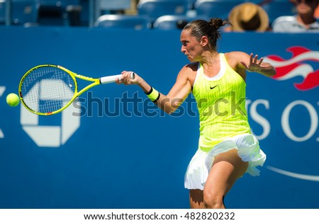 NEW YORK CITY, UNITED STATES - SEPTEMBER 2 : Roberta Vinci in action at the 2016 US Open Grand Slam tennis tournament