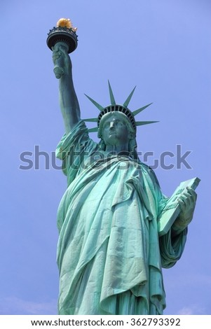 New York City, United States - Statue of Liberty - stock photo