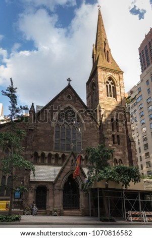 NEW YORK CITY, USA U2013 JULY 15, 2013: Church Of The Incarnation And
