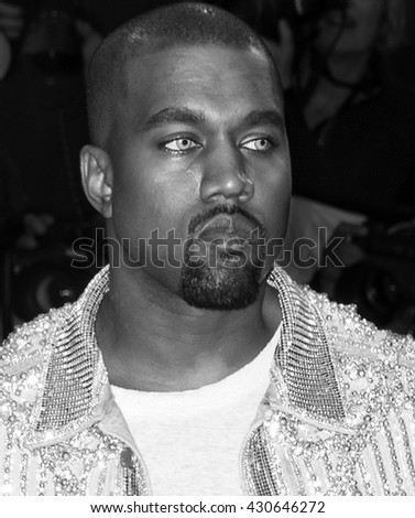 New York City, USA - May 2, 2016: Kanye West attends the Manus x Machina Fashion in an Age of Technology Costume Institute Gala at the Metropolitan Museum of Art - stock photo