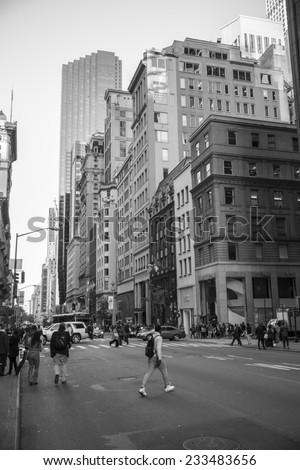 New York City, USA - November 3: View of Midtown Manhattan in New York City, USA on November 3, 2014. - stock photo