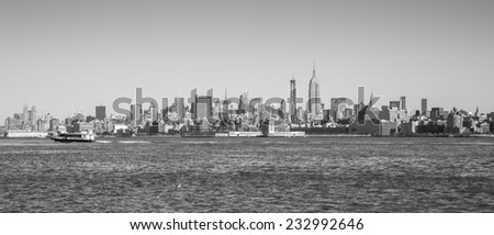 New York City, USA - November 3: View of the Manhattan skyline in New York City, USA on November 3, 2014.