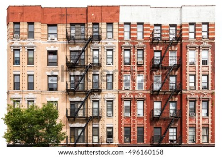 New York City Vintage Style Apartment Building In The East Village Of  Manhattan