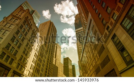 New York City. Wonderful view of Manhattan Skyscrapers.