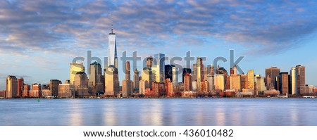 New York cityscape, USA - stock photo