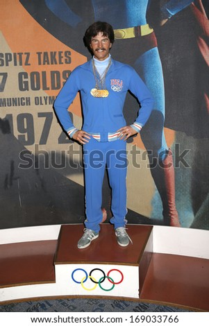 new york dec 6 a wax figure of mark spitz is seen on display
