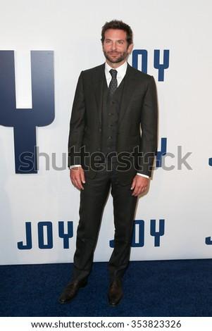 "NEW YORK-DEC 13: Actor Bradley Cooper attends the ""Joy"" premiere at the Ziegfeld Theatre on December 13, 2015 in New York City. - stock photo"