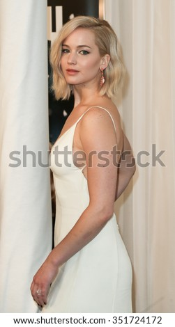 "NEW YORK-DEC 13: Actress Jennifer Lawrence attends the ""Joy"" premiere at the Ziegfeld Theatre on December 13, 2015 in New York City."