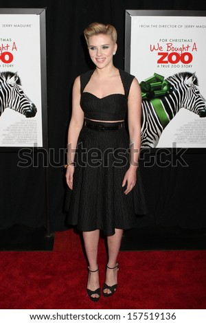 "NEW YORK - DEC 12:  Scarlett Johansson attends the premiere of ""We Bought A Zoo"" at the Ziegfeld Theatre on December 12, 2011 in New York City. - stock photo"
