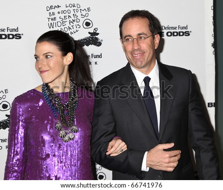 NEW YORK - DECEMBER 06:  Jessica Seinfeld and Jerry Seinfeld   attend the 20th Anniversary Celebration of the Children's Defense Fund's Beat the Odds Program on December 6, 2010 in New York City. - stock photo