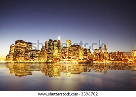 New York Down Town - stock photo