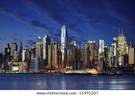 New York Down Town - stock photo