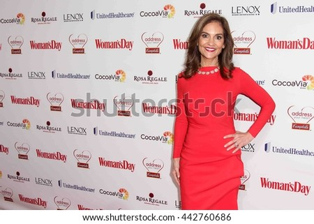 NEW YORK-FEB 10, 2015: TV personality Joy Bauer attends the 12th Annual Woman's Day Red Dress Awards at Jazz at Lincoln Center on February 10, 2015 in New York City. - stock photo