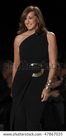 NEW YORK - FEBRUARY 12: Donna Karan walks on the runway at Naomi Campbell's Fashion For Relief Haiti NYC 2010 Fashion Show during Mercedes-Benz Fashion Week on February 12, 2010 in New York - stock photo