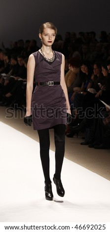 NEW YORK - FEBRUARY 14: Model walks the runway for Luca Luca Collection at Fall 2010 during Mercedes-Benz Fashion Week on February 14, 2010 in New York