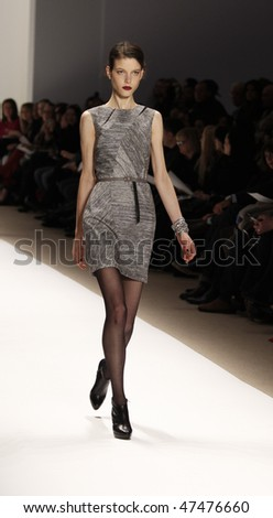 NEW YORK - FEBRUARY 14: Model walks the runway for Luca Luca Collection during Fall 2010 at Mercedes-Benz Fashion Week on February 14, 2010 in New York