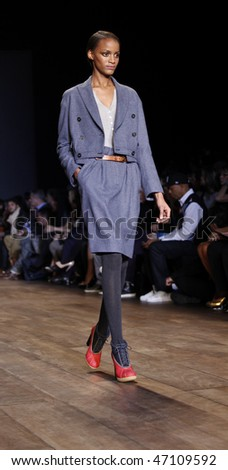 NEW YORK - FEBRUARY 18: Model walks the runway for Tommy Hilfiger Collection at Fall 2010 during Mercedes-Benz Fashion Week on February 18, 2010 in New York