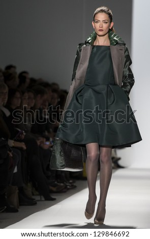 NEW YORK - FEBRUARY 12: Models perform at Dennis Basso Show for Fall/Winter 2013 Collection during Mercedes-Benz Fashion Week on February 12, 2013 in New York
