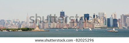 New York Harbor and Skyline banner