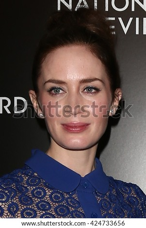 NEW YORK-JAN 5: Actress Emily Blunt attends the 2015 National Board of Review Gala at Cipriani 42nd Street on January 5, 2016 in New York City. - stock photo