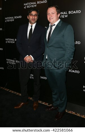 NEW YORK-JAN 5: Director Asif Kapadia (L) and Amy Winhouse's former manager Nick Shymansky attend the 2015 National Board of Review Gala at Cipriani 42nd Street on January 5, 2016 in New York City. - stock photo