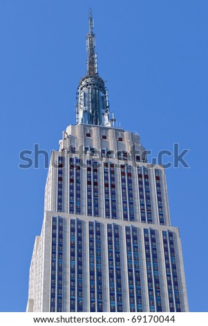 NEW YORK - JAN 16 : Empire state building pictured on January 16, 2011. It stood as the world's tallest building for more than 40 years (from 1931 to 1972). - stock photo