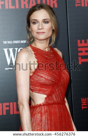 NEW YORK-JULY 11: Actress Diane Kruger attends 'The Infiltrator' New York premiere at AMC Loews Lincoln Square 13 Theater on July 11, 2016 in New York City. - stock photo