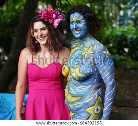 New York July 22 2017 Artists Stock Photo 684302158
