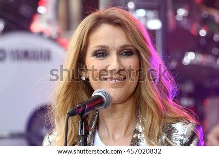 "NEW YORK - JULY 22, 2016:  Celine Dion performs on the NBC ""Today"" show concert series on July 22, 2016, in New York City."