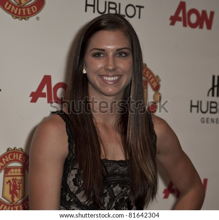NEW YORK - JULY 25: Footballer Alex Morgan attends Hublot 'Art of Fusion' fashion show with Sir Alex Ferguson & Manchester United at Cipriani, Wall Street on July 25, 2011 in New York City - stock photo
