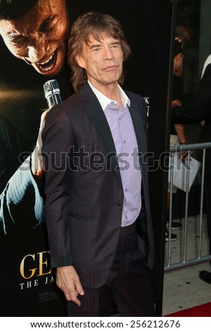 "NEW YORK - JULY 21, 2014: Mick Jagger attends the premiere of ""Get On Up"" at the Apollo Theater on July 21, 2014 in New York City. - stock photo"