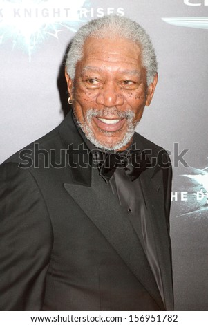 "NEW YORK - JULY 16: Morgan Freeman attends the premiere of ""The Dark Knight Rises"" at AMC Lincoln Square Theater on July 16, 2012 in New York City."