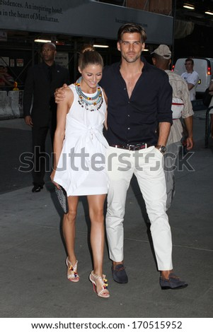 """NEW YORK - JULY 16: Olivia Palermo and Johannes Huebl attend a screening of """"Red 2"""" at the Museum of Modern Art on July 16, 2013 in New York City. - stock photo"""