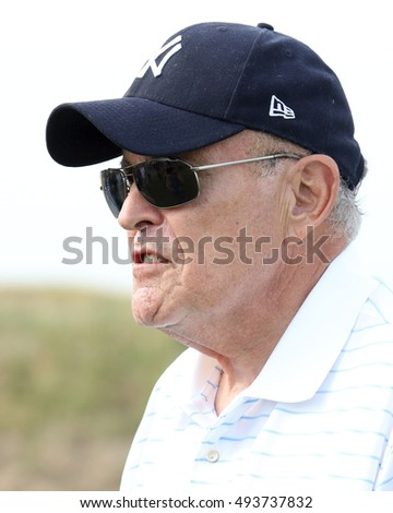 NEW YORK - July 6, 2015: Rudy Giuliani attends the Hanks Yank's Golf Classic at the Trump Golf Links at Ferry Point on July 6, 2015 ,in New York City.