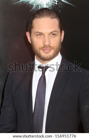"""NEW YORK - JULY 16: Tom Hardy attends the premiere of """"The Dark Knight Rises"""" at AMC Lincoln Square Theater on July 16, 2012 in New York City. - stock photo"""