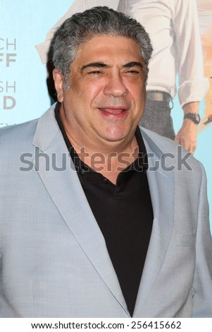 """NEW YORK - JULY 14, 2014: Vincent Pastore attends the premiere of """"Wish I Was Here"""" at the AMC Lincoln Square Theater on July 14, 2014 in New York City. - stock photo"""