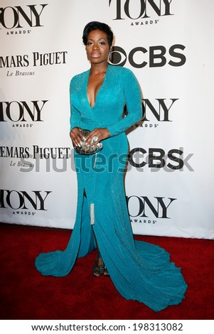NEW YORK-JUNE 8: Actress Fantasia Barrino attends American Theatre Wing's 68th Annual Tony Awards at Radio City Music Hall on June 8, 2014 in New York City. - stock photo