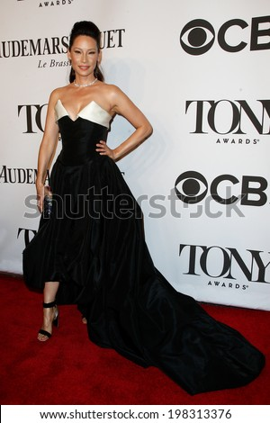 NEW YORK-JUNE 8: Actress Lucy Liu attends American Theatre Wing's 68th Annual Tony Awards at Radio City Music Hall on June 8, 2014 in New York City. - stock photo