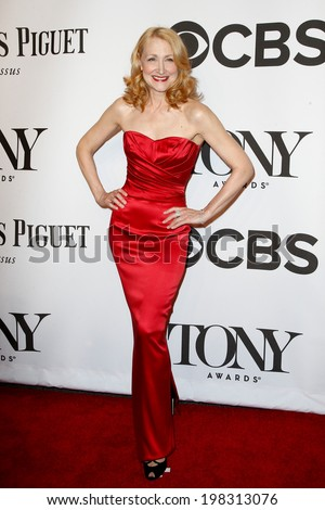 NEW YORK-JUNE 8: Actress Patricia Clarkson attends American Theatre Wing's 68th Annual Tony Awards at Radio City Music Hall on June 8, 2014 in New York City. - stock photo