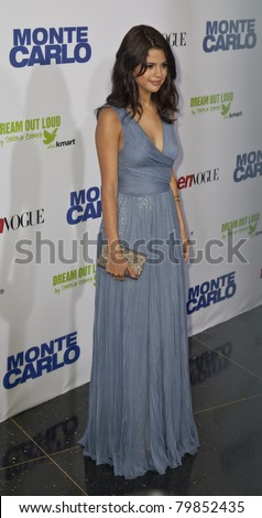 NEW YORK - JUNE 23: Actress Selena Gomez attends the 'Monte Carlo' screening at AMC Loews Lincoln Square on June 23, 2011 in New York City. - stock photo