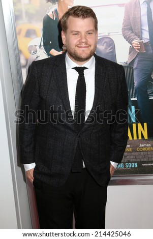 "NEW YORK - June 25, 2014: James Corden attends the premiere of ""Begin Again"" at the SVA Theater on June 25, 2014 in New York City. - stock photo"