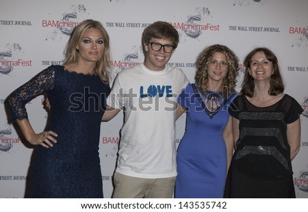 NEW YORK - JUNE 24: (L-R) Lucy Walker, Kevin Pearce, Sara Bernstein and Florence Almozini attend BAMcinemaFest 2013 Screening 'The Crash Reel' at BAM Rose Cinemas on June 24, 2013 in Brooklyn, New York