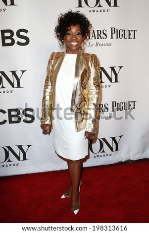 NEW YORK-JUNE 8: Singer Gladys Knight attends American Theatre Wing's 68th Annual Tony Awards at Radio City Music Hall on June 8, 2014 in New York City. - stock photo
