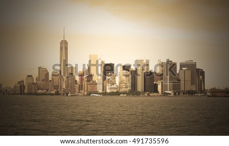 New York, Manhattan with Freedom Tower, USA