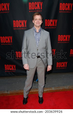 NEW YORK-MAR 13: Actor Chris Henry Coffey attends the 'Rocky' Broadway opening night at the Winter Garden Theatre on March 13, 2014 in New York City. - stock photo