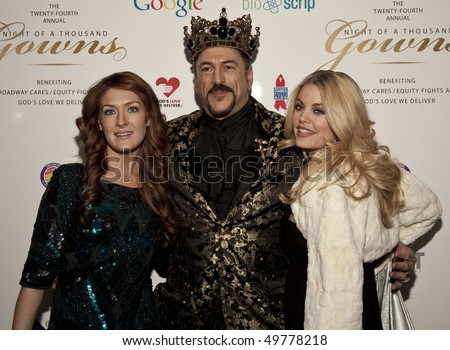 NEW YORK - MAR 27: Actress Bree Williamson, singer Kelly King and Gabriel Della Notte attend the 24th Annual Night of a Thousand Gowns at The Marriott Marquis in Times Square on Mar 27, 2010 in NYC