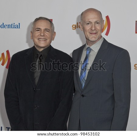 NEW YORK - MARCH 24: Craig Zadan and Neil Meron  attend the 23rd Annual GLAAD Media Awards presented by Ketel One and Wells Fargo at Marriott Marquis Theater on March 24, 2012 in New York City - stock photo